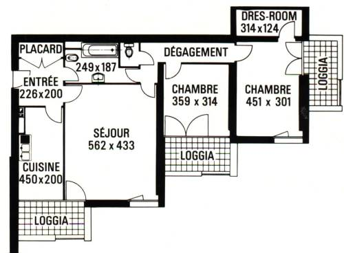 plan appartement 3 tours grenoble